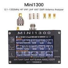 Nova atualização mini1300 0.1 1300mhz hf vhf uhf ant swr antena analisador 4.3 polegada tela de toque