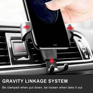 Автомобильный держатель Gravity для телефона в автомобиле, крепление на вентиляционное отверстие, без магнитного держателя, мобильный телефон...