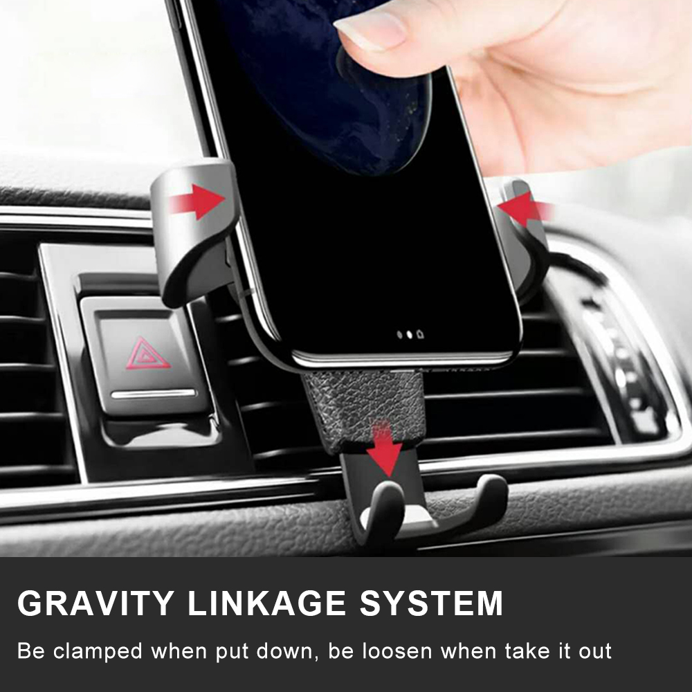 Gravity Car Holder For Phone in Car Air Vent Clip Mount No Magnetic Mobile Phone Holder Cell Stand Support For iPhone X 7(China)