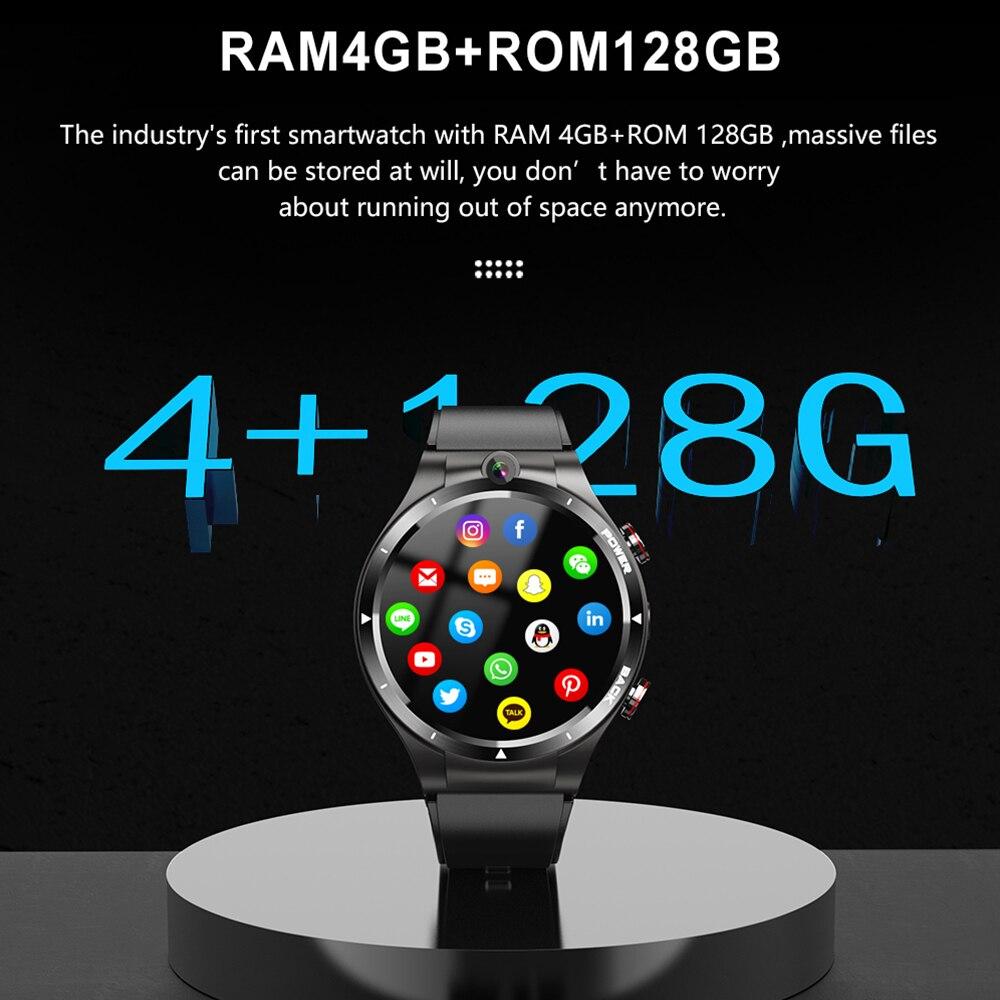 Смарт-часы LEMFO, 4G, Android 10,7, Helio P22, 4G, 128 ГБ, LTE, 4G, SIM, 900 мАч, внешний аккумулятор 2021, двойная камера для мужчин 2