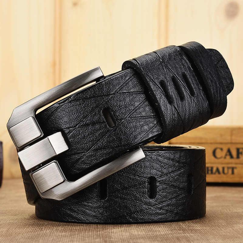 [DWTS] gürtel männlichen leder gürtel männer echtes leder strap luxus pin schnalle casual männer gürtel ancy vintage jeans hohe qualität