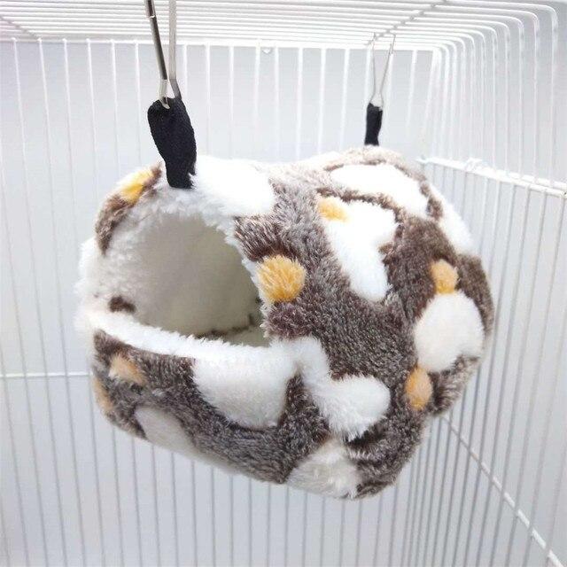 Małe zwierzę zwierzęta klatki zimowa wiosna chomik świnka morska wiewiórka utrzymuj ciepłe gniazdo miękkie wygodne łóżko do spania namiot hamakowy