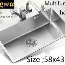 Многофункциональная кухонная ручная раковина одинарная мойка Мода 304 пищевой нержавеющей стали Горячая 580x430 мм