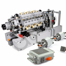 2019 NEW MOC V42 Engine Gearbox Sequential Building Block Bricks Parts DIY Toys Compatible with legoes Techinc