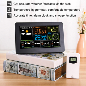 Image 5 - Wielofunkcyjna stacja pogodowa WiFi kontrola aplikacji inteligentny Monitor pogody wewnętrzna temperatura zewnętrzna wilgotność barometryczna prędkość wiatru