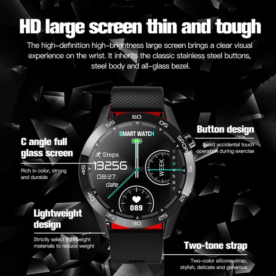 Body Temperature Smart Watch Heart Rate Monitor Health Tracker Weather Forecast Silicone Strap Pedometer Sport Smart Bracelet (4)