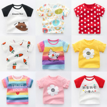 Girls T Shirts Cotton Baby Summer T Shirt For Boy Kids Toddler Boy Clothes Short Sleeve Children Tops flower kid clothing Infant summer boys t shirt children tops clothing cotton dinosaur short sleeve t shirts kids boy white girls tee toddler 1 8years baby