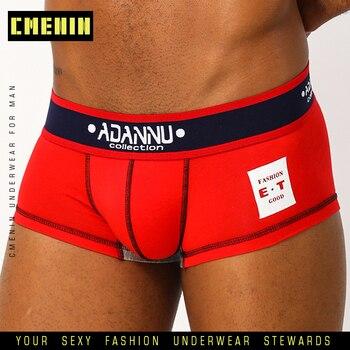 CMENIN Underwear Men Gay Sexy Boxer Homme Cotton  Mens Boxershorts Boxers Shorts AD48 - discount item  30% OFF Men's Underwears