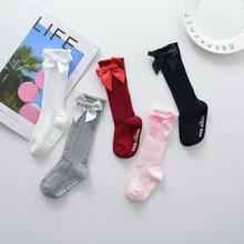 2020 bebê crianças meias joelho arcos altos bonito meninas meias tubo longo meias crianças