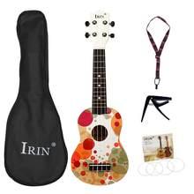 Irin basswood madeira ukuleles soprano ukulele starter miúdo guitarra hawaii guitarra 21 Polegada bolhas coloridas crianças uke