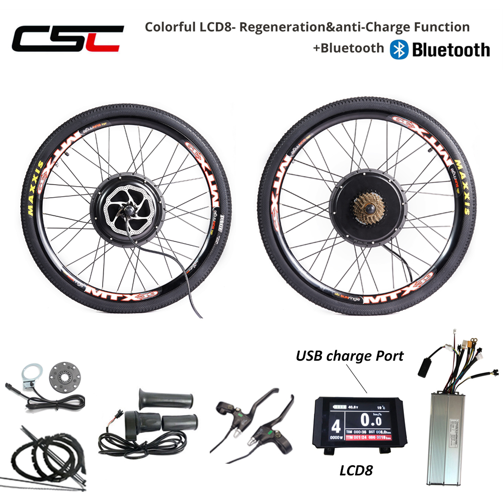 48V 1500W Cassette Motor Wheel 8//9 Speed Electric Bike Conversion Kit E Bike Set