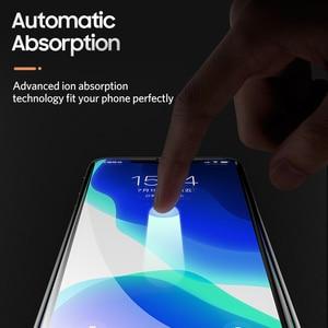 Image 5 - Benks toz önleme ekran koruyucu için iPhone 11/11Pro/11ProMax/Xr/Xs Max tam kapsama anti mavi Litght temperli cam filmi