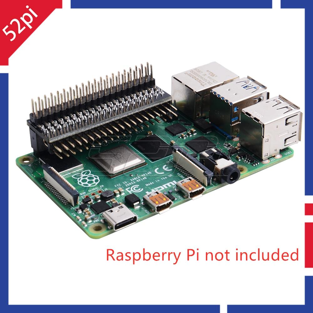 GPIO Edge Extension 52Pi GPIO Extension Board Raspberry Pi GPIO Header For Raspberry Pi 4B / 3B+ / 3B / Zero W / Zero
