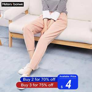 Casual-Pants Women Trousers Metersbonwe Office Lady Slim-Fit High-Quality Woman New