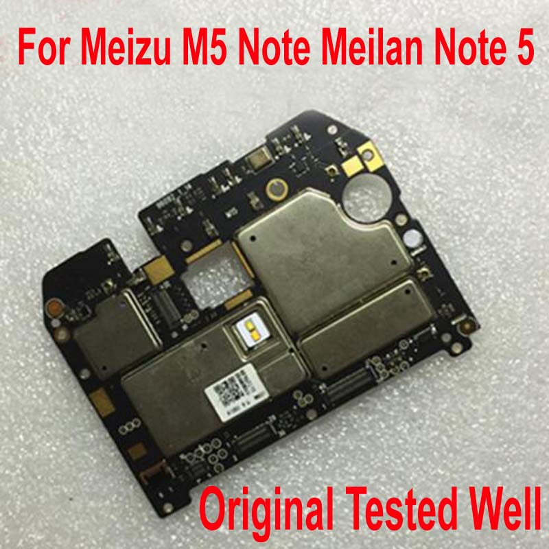 Original Unlock Test Working Electronic Panel Mainboard For Meizu M5 Note Meilan Note5 Motherboard Card Fee Circuits Flex Cable
