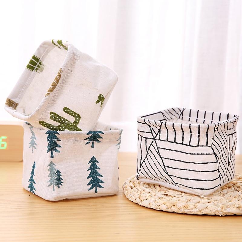 Desktop Receive Basket Sundry Underwear Toy Boxes Cosmetics Laundry Basket Folding Sundries Multi-functional Storage Basket