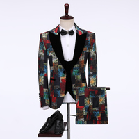 2019 New Arrival Mens Suits Sets Costume 3 Piece Homme Peaked Lapel Groomsmen Wedding Suits For Men Groom Mens Tuxedo Prom Suits