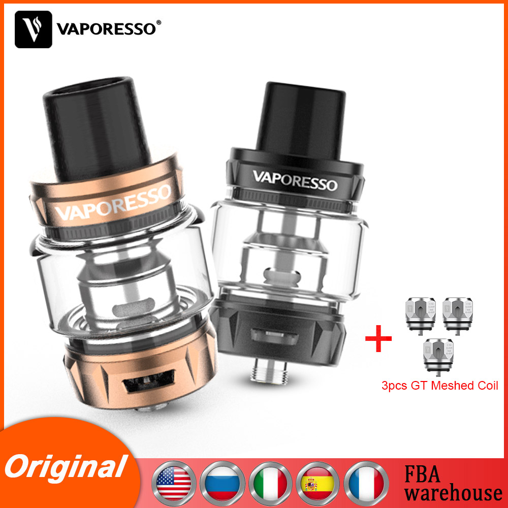 Original Vaporesso Vape SKRR S Tank Capacity 8ml With Top Fill System GT & QF Strips Meshed Coil Electronic Cigarettes Atomizer