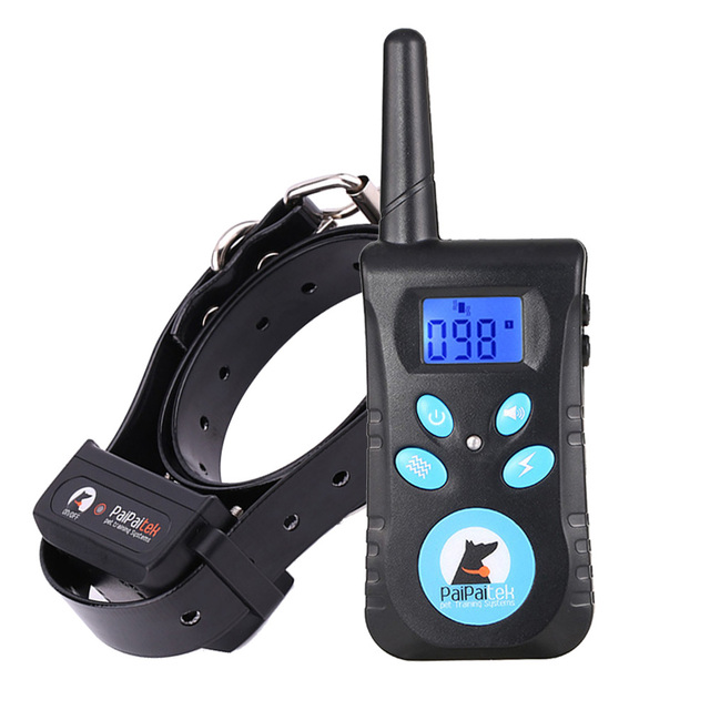 Paipaitek Dog Training Collar with Remote  2 in 1 Automatic Bark Stop Shock Collar 550Yard Range Rechargeable and Waterproof