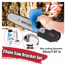 11.5inch 100 125 150 Electric Angle Grinder Polisher Modified Chainsaw Stand Converter Electric Saw Woodworking Chainsaw Bracket