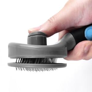 Image 4 - Benepaw verimli kendini temizleme Slicker Pet bakım fırçası küçük büyük köpekler kediler rahat güvenli kaymaz tarak evcil hayvanlar için