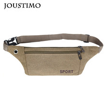 New Light Casual Canvas Fanny Pack For Men Women Handbag Wasit Bag Small Pillow Chest Bag Outdoor Travel Crossbody Clutch Purses(China)