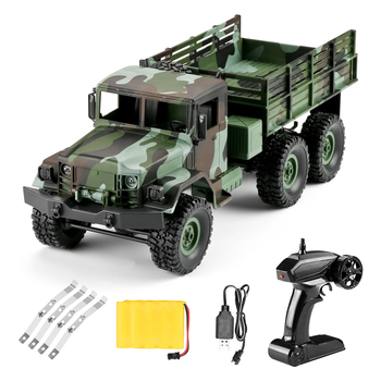 Gift RC Car Kids Off-road Vehicle Remote Control LED Lights Simulation Children Camouflage Truck Model Four Channel Shockproof