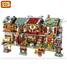 цены New LOZ Mini Blocks City View Scene Shop Retail Store Architectures Models & Building Quiz Christmas Toy for Children with box