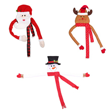 Hugger-Ornament Cute with Hat Long-Scarf Bendable Arm for Mall Party-Supplies Decor Xmas