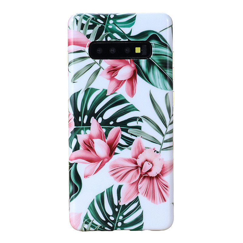1 X Fashion Case Cover For Samsung Galaxy S10/S10 Plus Shock Proof Flower Cute Girls Phone Case Cover Hand-Made Dirt-Resistant