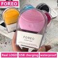 Foreo Luna Mini 2 щетка для очищения лица с настоящим логотипом FOREO USB водонепроницаемый силиконовый Вибрационный массажер для ухода за кожей лица