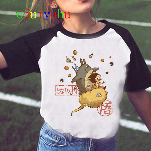 Totoro Studio Ghibli Harajuku Kawaii T Shirt Women Ullzang Miyazaki Hayao Tshirt Funny Cartoon T-shirt Cute Spirited Away Female 2