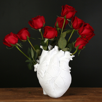 Anatomical Heart Shape Flower Vase Nordic Style Flower Pot Art Vases Sculpture Desktop Plant Pot for Home Decor Ornament Gifts 1