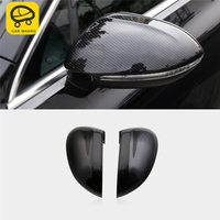 CARMANGO for VW Volkswagen Passat B8 2017 2019 Car Rearview Mirror Chrome Cover Protector Frame Sticker Exterior Accessories