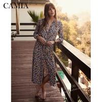 CAMIA Sezane dress fresh vintage floral print slim v neck wrap up tie dress
