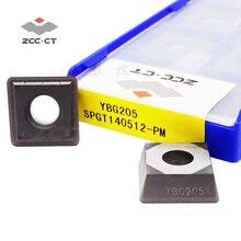 10 шт zcc отверстие дрель вставка spgt140512 pm твердосплавные