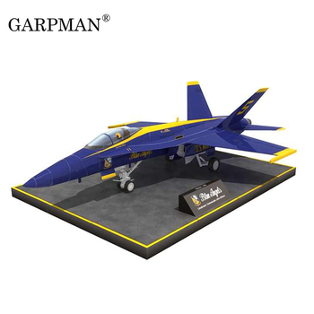 26cm F/A-18 Blue Angel Fighter Paper Model DIY Aircraft Puzzle Handmade Toy Stereo Origami Model image