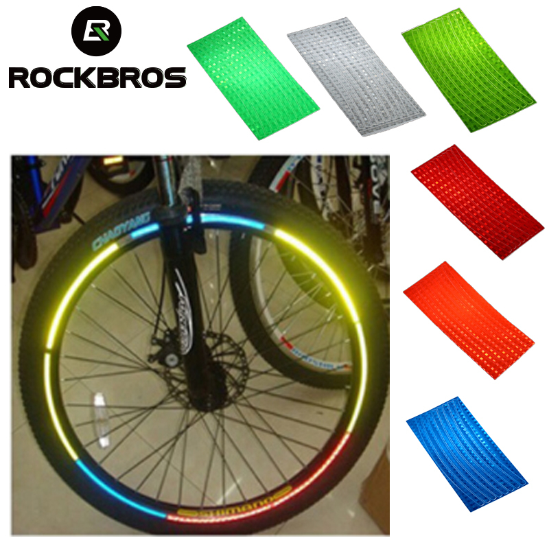 ROCKBROS Riding Wheel Rim Reflector Spoke Bicycle Reflective Stickers MTB Road Cycling Safe Protector Bike Accessories 6pcs/lot