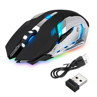 LED Backlight 2.4G Wireless Optical Gaming Mouse 800/1200 /1600DPI High Resolution Mouse USB Rechargeable
