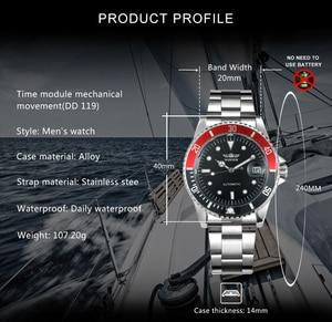 Image 2 - זוכה הרשמי הקלאסי אוטומטי שעון מכאני עסקי גברים שעונים למעלה מותג יוקרה פלדת רצועת לוח שנה שעוני יד חמה