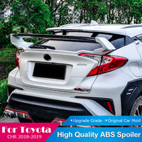 Fit For Toyota CHR C HR Carbon Fiber Rear Spoiler 2018 2019 Car Spoiler Trunk Lip Wing White Black Red Tail Spoiler Car Styling