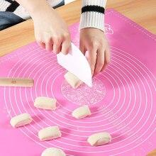 Силиконовый коврик для выпечки утолщение муки прокатки весы коврик для замеса теста коврик для выпечки кондитерских изделий прокатки коврик для выпечки вкладыши