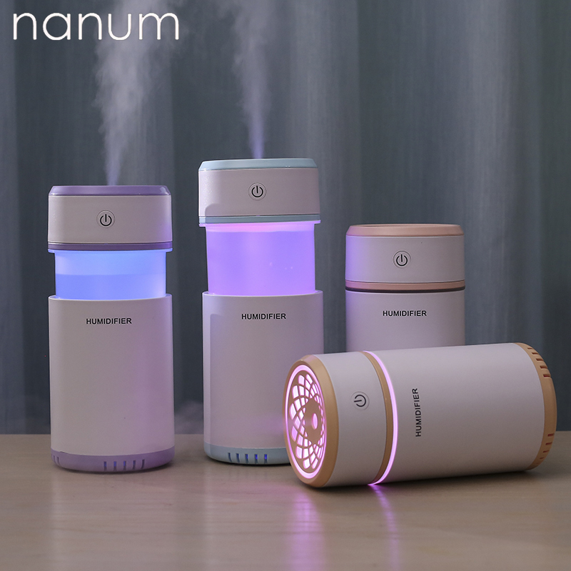 Creative Pulling Humidifier Mini Humidifiers LED Night Light Aroma Essential Oil Diffuser USB Fogger Car Air Freshener