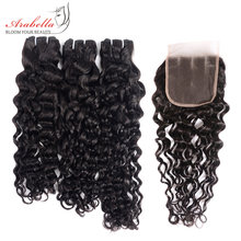 Tissage en lot Super Double ondulé – Arabella, cheveux vierges, pre-plucked, avec Lace Closure transparente