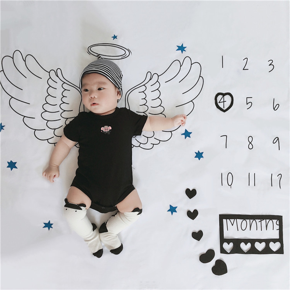 Baby Photographing Wings Blanket Infant Baby Blanket Backdrop Cloth Baby Photography Fabrics Accessories Photography Props