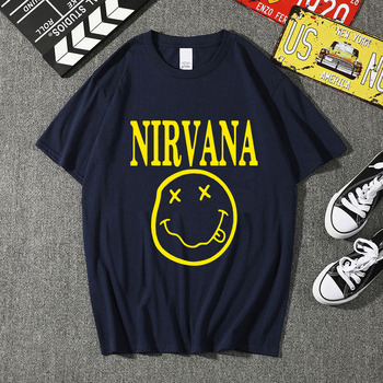 Nirvana T-shirts Men/Women Summer Cotton Tops Tees Print T shirt Men loose o-neck T-shirt Homme Fash