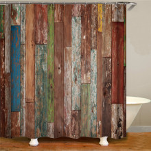 Waterproof shower curtain printing shower curtain polyester polyester fabric home decoration curtain 12 hook