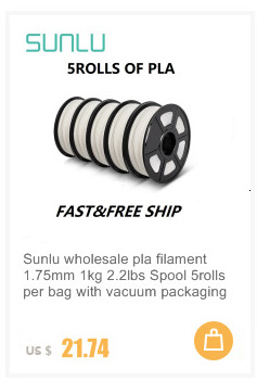 Sunlu pla mais filamento 1.75m 1kg 3d