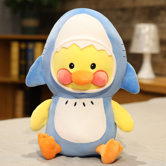 25/35/45cm Cute Duck Plush Toys Turn to Shark Lobster Kawaii Stuffed Animals Doll Toys for Children Baby Creative Christmas Gift