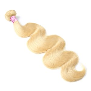 Image 3 - Brazilian Body Wave Blonde Hair Extensions MS Lula 30 Inch Bundles 100% Human Hair Weave Remy 613 Hair Bundles Free Shipping